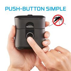 Heat-activated repellent keeps mosquitoes away at the push of a button. Zone of Protection. Outdoor Plants, Outdoor Fun, Outdoor Areas, Gadgets And Gizmos, Cool Gadgets, Keeping Mosquitos Away, Insecticide, Diy Cleaning Products, Pest Control