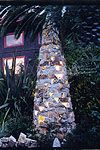 Paul Lindhard Light Cairns Made with facing stone. stacked and glued