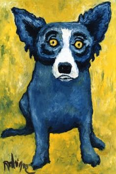 """Loup-garou"" date? First Painting of the Blue Dog by itself 