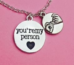 Best friend gift you're my personKeychainNecklace