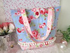 tote bag made with Cath Kidston fabric