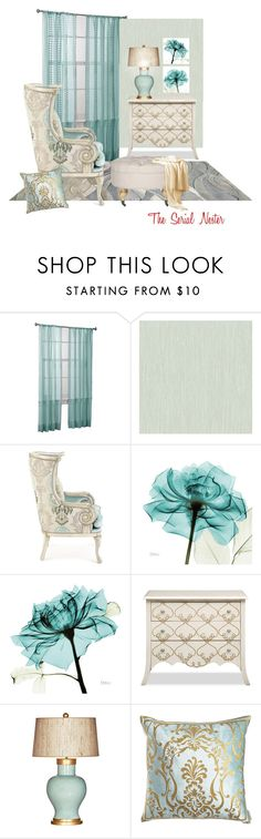 """""""Untitled #545"""" by theserialnester ❤ liked on Polyvore featuring interior, interiors, interior design, home, home decor, interior decorating, York Wallcoverings, Massoud, Barclay Butera and Safavieh"""