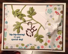 Birthday Monkey Card, Stampin Up Paper