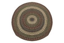 California - Charles Sunset Round Braided Rug This high-quality braided rug is made by American workers at our family-owned business in the North Carolina Mountains. It is made from Naturalized Olefin, which is a synthetic, polypropylene yarn that is extremely durable, yet soft enough for use indoors. It is color fast and washable. Visit www.stroudbraided... for more details