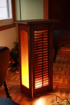 Shutter table This is a repurposed shutter table with a light. Great for indoo… – Repurposed Do It Yourself Furniture, Diy Furniture Plans, Cheap Furniture, Furniture Making, Homemade Furniture, Pipe Furniture, Furniture Makeover, Repurposed Items, Repurposed Furniture