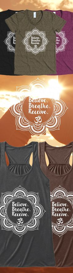 Discover Believe. Breathe. Receive. Women's Tank Top from Fitness Tees & Tanks, a custom product made just for you by Teespring. With world-class production and customer support, your satisfaction is…MoreMore