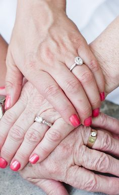 3 generation wedding ring picture- a picture I will always cherish