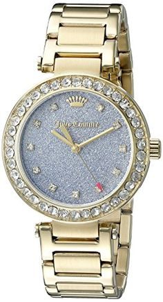 Women's Wrist Watches - Juicy Couture Womens 1901328 GoldTone Bracelet Watch -- To view further for this item, visit the image link. (This is an Amazon affiliate link)
