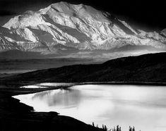 Mount McKinley and Wonder Lake, Mount McKinley National Park, Alaska, 1948 by Ansel Adams