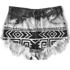 sharpie DIY denim shorts