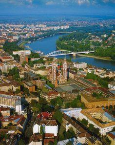 Szeged, Hungría, desde lo alto. Publicada en la página de Facebook I love Szeged