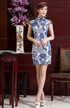 Chinese Cheongsam short sleeve Summer Dress