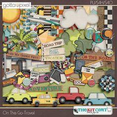 On The Go Travel Digital Scrapbook Page Kit. $5.99 at Gotta Pixel. www.gottapixel.net/