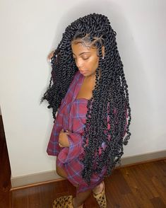 10 Crochet Box Braids Hairstyles, # Braids with weave hairstyles 10 Crochet Box Braids Hairstyles, # Braids with weave mohawk Twist Braid Hairstyles, Braided Hairstyles For Black Women, African Braids Hairstyles, My Hairstyle, Girl Hairstyles, Natural Twist Hairstyles, Natural Protective Hairstyles, Crochet Weave Hairstyles, Wedding Hairstyles