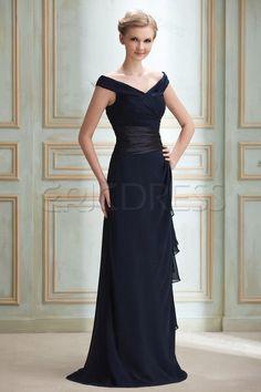 Elegent Off-the-Shoulder V-Neck Sheath Evening Dress 3