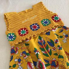 Yaz geçmeden bitirebileydim iyiydi🙄 Kışa kalsada bolero yaparız😂 ne dersiniz 😜 strickende Babykleidung How to Crochet a Little Black Crochet Dress - Crochet Ideas Crochet Dress Girl, Black Crochet Dress, Crochet Girls, Crochet Baby Clothes, Crochet For Kids, Crochet Dresses, Crochet Motifs, Crochet Granny, Crochet Stitches