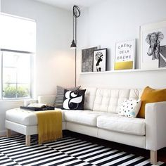 Spunky flooring! This room is very fun and we can't take our eyes off the floating shelf!