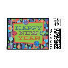 #newyear #party #postage #stamps