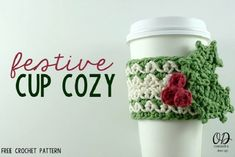 Festive Cup Cozy DIY - 17 Lovable Mug Cozy DIYs for All with Cold Hands, but Warm Hearts