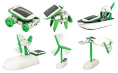 Vibe Solar Kit Educational Robotics Features: No Batteries Required Powered Using Solar Energy Creates 6 Different Working Models: Car/Windmill/Puppy/Revolving Plane/Stationary Plane/Airboat Great Demonstration Toy For Children Solar Powered Toys, Solar Power Kits, Robot Kits, Do It Yourself Kit, Gadgets, Science Toys, Kits For Kids, Diy Solar, Solar Car