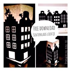DIY Free download tealight cover *Sinterklaas Lichtje*