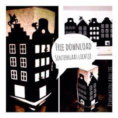 DIY Free download tealight cover *Sinterklaas Lichtje*