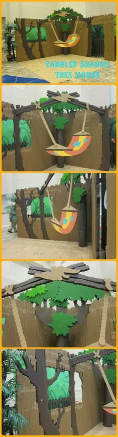 Tangled Branch Tree House backdrop from several angles.  On display at Lifeway's Preview Event in Fort Worth, TX. Image Only Journey off the Map VBS 2015.
