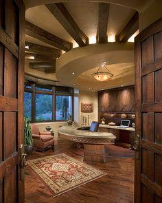 Bess Jones Interiors's Design, Rustic Home Office Design