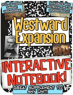 Westward Expansion Interactive Notebook! Active Learning on Manifest Destiny!