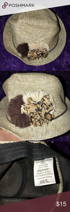 Cute bucket hat for sale! This is a cute bucket hat that can be dressed up or down. Very comfortable!! Claire's Accessories Hats