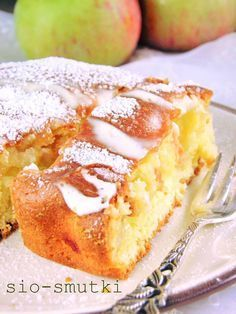 Apple Cake Recipes, Baking Recipes, Cookie Recipes, Dessert Recipes, Polish Desserts, Sweets Cake, Specialty Foods, Pumpkin Cheesecake, Homemade Cakes