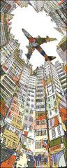Kowloon City Art Block 16x40  by HR-FM