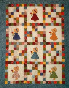 Country Girls Quilt Pattern Download by Cottage Quilt Designs, available now at connectingthreads.com for just $9.00 »