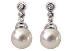 Perles - Boucles d'oreilles en perles de culture