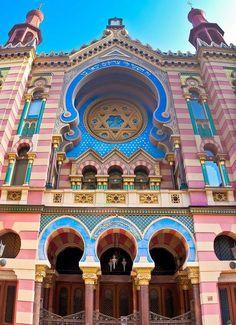 synagogue in Prague, Czech Republic.