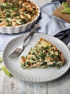 Salmon pie with spinach and feta // Laksetærte med spinat og feta