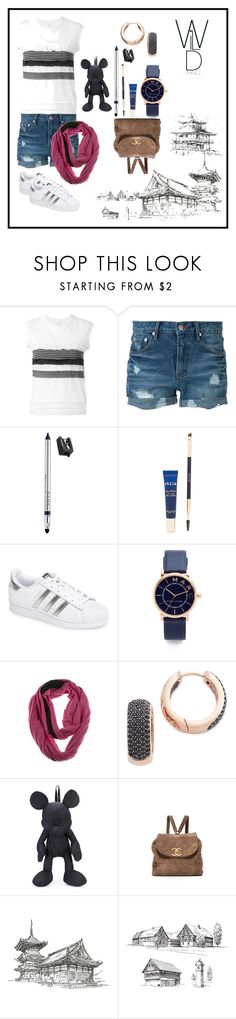 """""""Tank With Ruffles"""" by racheal-taylor ❤ liked on Polyvore featuring Y's by Yohji Yamamoto, Guild Prime, Trish McEvoy, Stila, adidas, Marc Jacobs, Bronzallure and Christopher Ræburn"""
