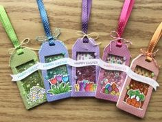 Shaker Tags - Bunches of Happiness stamp set and Cool Tag Three die set