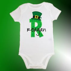 St.+Patrick's+Day+Baby+Shirt+Bodysuit++by+TheBoutiqueByEB+on+Etsy,+$22.99