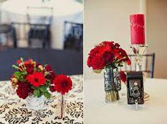 Ashlie + Joshua's Classic Red + Black Wedding Flowers at Sleepy Ridge in Orem Utah Floral Centerpieces, Wedding Centerpieces, Wedding Table, Floral Arrangements, Black Silver Wedding, Floral Wedding, Wedding Flowers, Floral Event Design, Wedding Designs