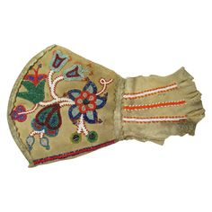 RARE Antique Metis Beadwork Gauntlet 19th C Native American Indian 1880's #nativeamerican found on Ruby Lane