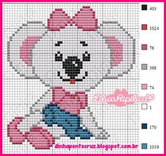 Pixel Crochet Blanket, C2c Crochet, Baby Blanket Crochet, Cross Stitch Charts, Cross Stitch Patterns, Baby Koala, Baby Mouse, Animal Crackers, Plastic Canvas Patterns