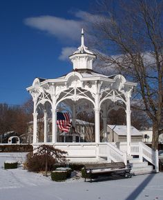 NOT MEDINA   |   Bellville, Ohio The magnificent bandstand, or gazebo, in Bellville, Ohio by architect Abraham Lash built in 1879.   Medina's gazebo was built in 1974; a more or less exact copy of the original in Bellville.