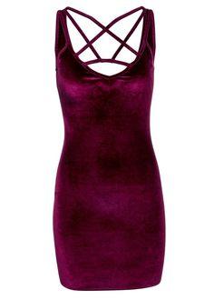 Festive Vibes Burgundy Velvet Dress