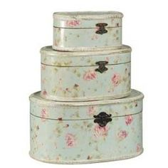 Mint Green & Rose Storage Boxes