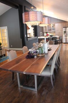 walnut table property brothers | dining room | pinterest | walnut