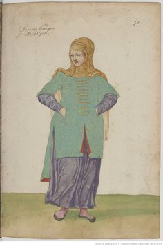Femme Grecque mecanique Empire Ottoman, Medieval Costume, Bnf, Eastern Europe, Narnia, Les Oeuvres, Disney Characters, Fictional Characters, Miniatures