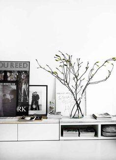 Lowboard DIY mit Ikea Küchenschrank - und Deko Inspiration #Wohnzimmer