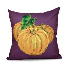 E by Design 26 x 26-inch Tres Calabazas Holiday Print Pillow