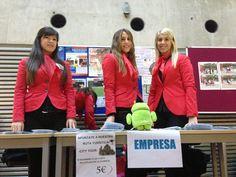 Las recepcionistas en DroidCon Spain